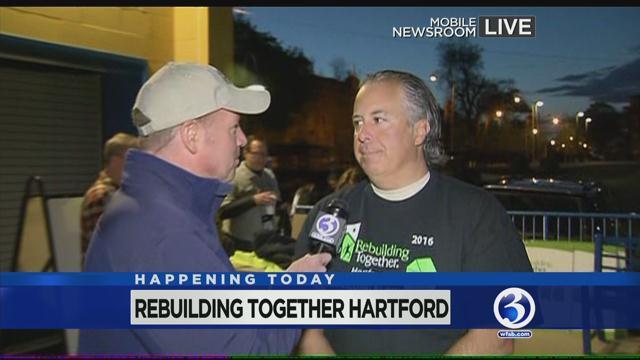 Scot Haney live from Rebuilding Together Hartford. (WFSB photo)