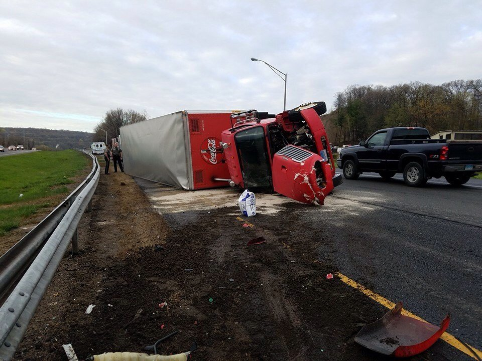 Tractor trailer involved in a crash on Route 8. (iWitness submitted photo)
