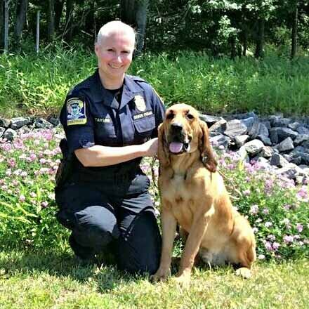 TFC Kerry Halligan and her K9 partner Texas (CT State Police)