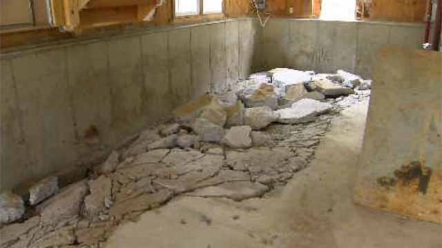 Wally Brisson, of Stafford Springs, is one of thousands of homeowners who experts said have been impacted by the crumbling foundation epidemic. (WFSB)