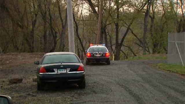 Middletown police were seen investigating Monday night after a body was found in the Mattabesset River (WFSB)