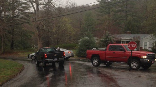 One person is in custody after a barricade situation on Tinkerville Road in Willington. (WFSB photo)