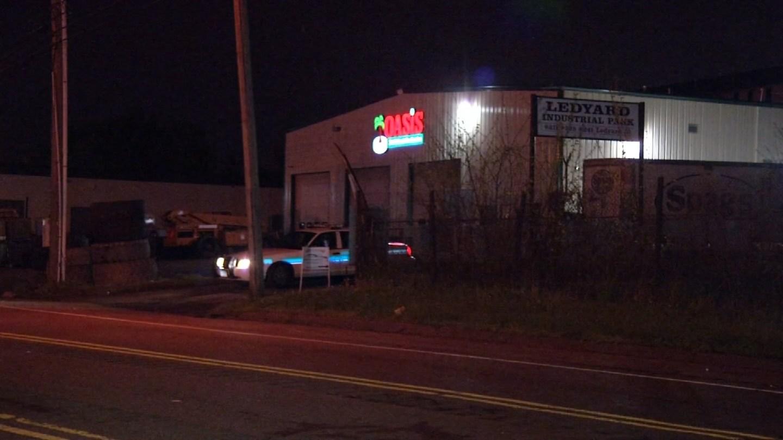 Hartford police were called to a disturbance on Ledyard Street overnight. (WFSB photo)