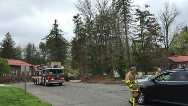 Crews were called to Avon Police Department to examine the suspicious item. (WFSB)