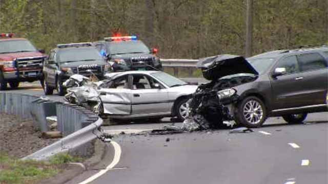 Serious crash closed Avon Mountain in both directions on Wednesday (WFSB)