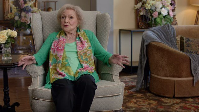 Betty White has been appearing in racy password protection promotions. (passwordday.org photo)