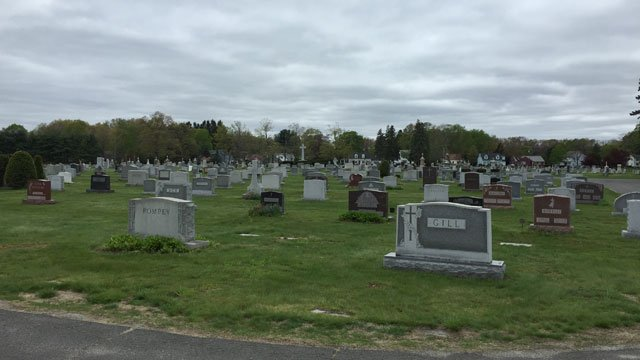 Police are investigating thefts at Saint Thomas Cemetery in Southington. (WFSB)