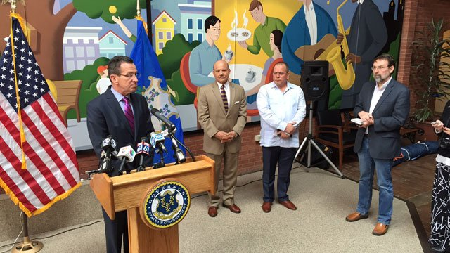 Gov. Dannel Malloy discusses the Zika virus in Connecticut. (WFSB)