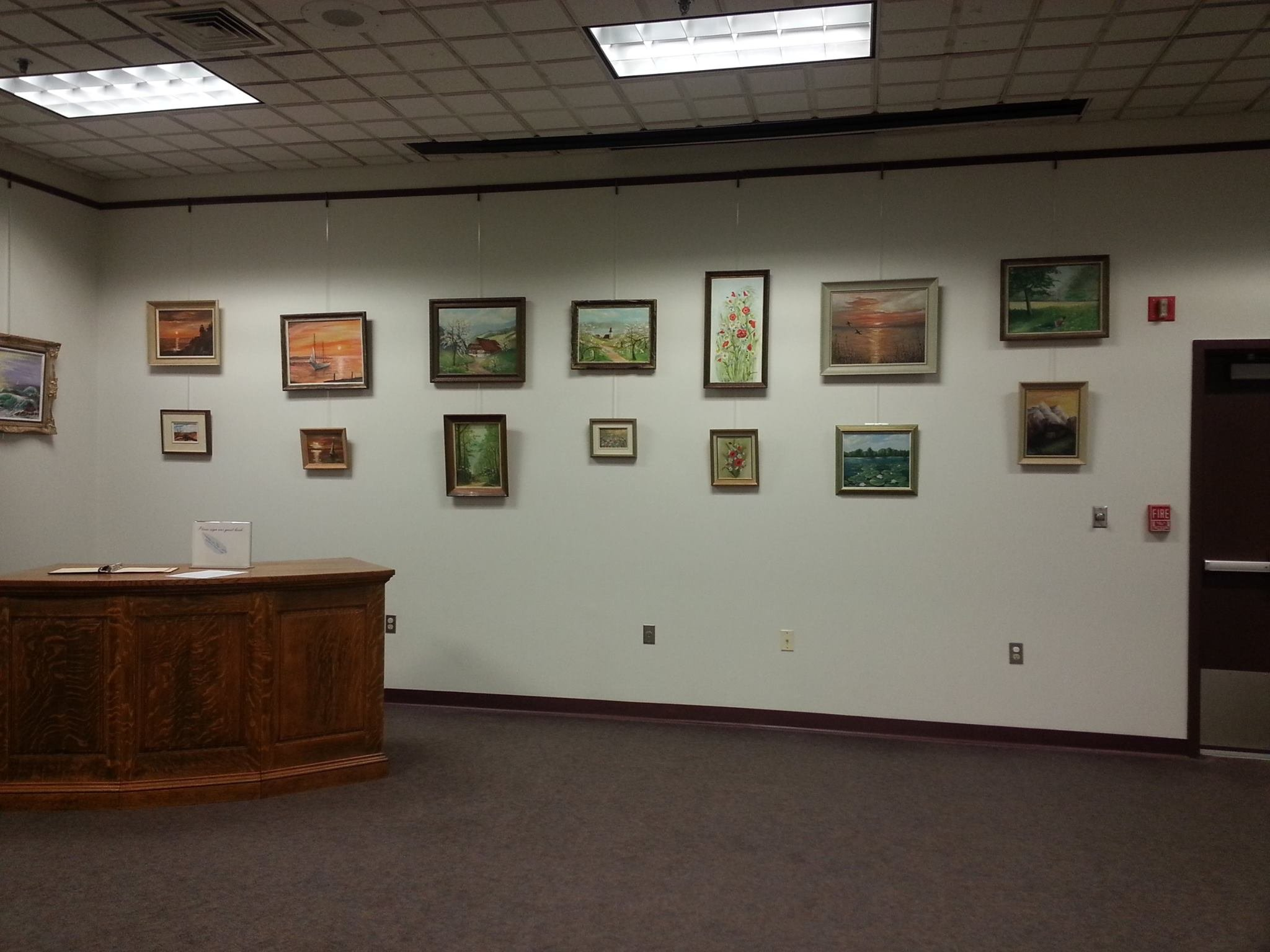 Art display at Thompson Public Library