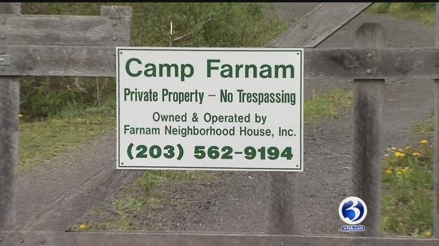 Police are investigating vandalism at Camp Farnam in Durham. (WFSB)