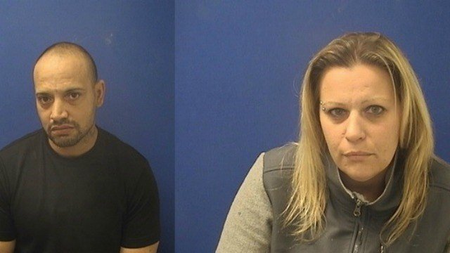 Montgomery (left) and Kopasky (right) were arrested for heroin possession. (South Windsor PD)