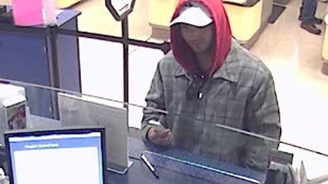Man in attempted bank robbery sought by police (CT State Police)