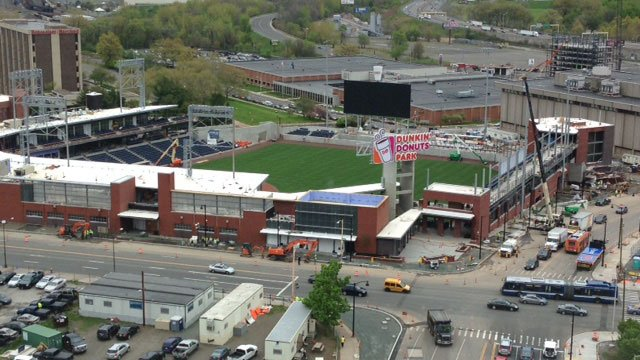 "Worker suffered ""minor injuries"" after fall at Dunkin' Donuts Park in Hartford. (WFSB)"