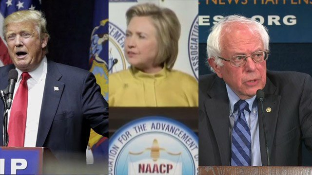 Donald Trump, Hillary Clinton, Sen. Bernie Sanders are all hoping to perform well in three key swing states.