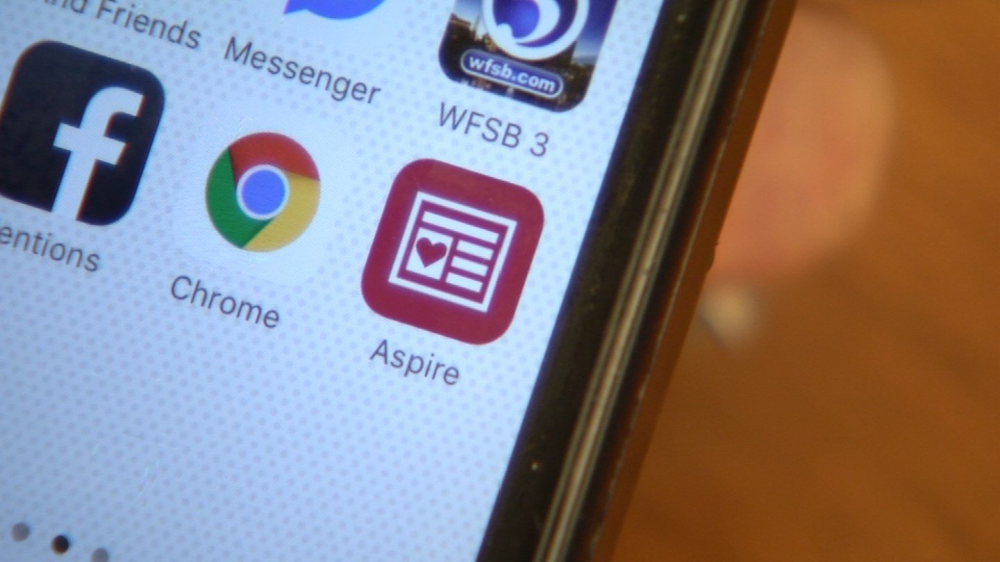 The Aspire News app. (WFSB photo)