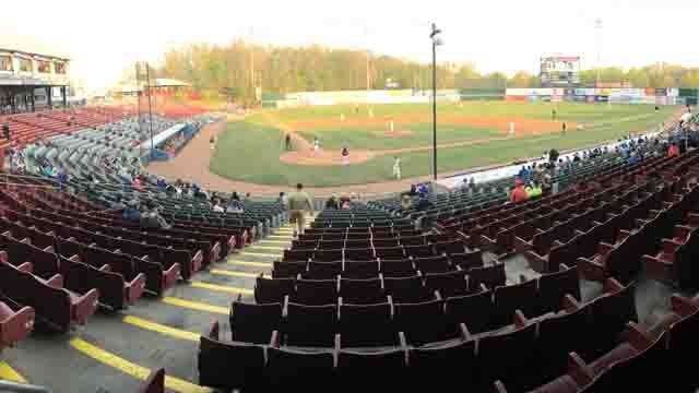 The first home game wasn't very well attended on Thursday. (WFSB)