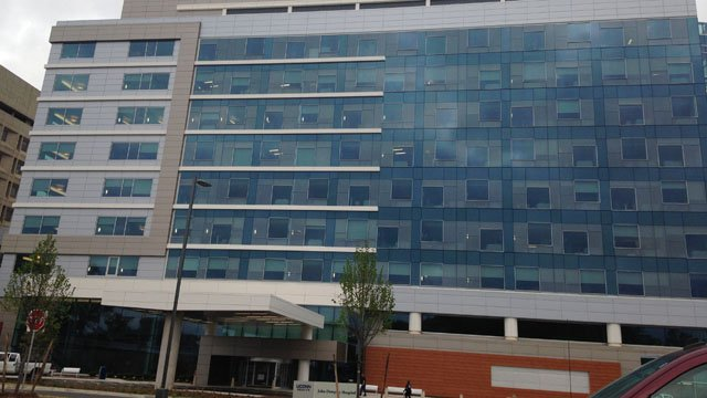 The new University Tower at the UConn Health Center's John Dempsey Hospital. (WFSB photo)