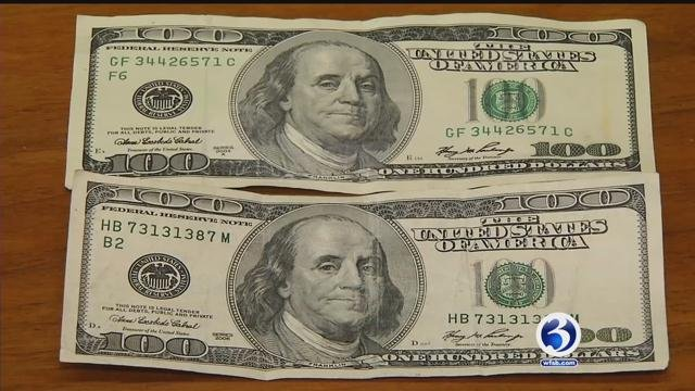 Can you tell the counterfeit from the real $100? (WFSB)