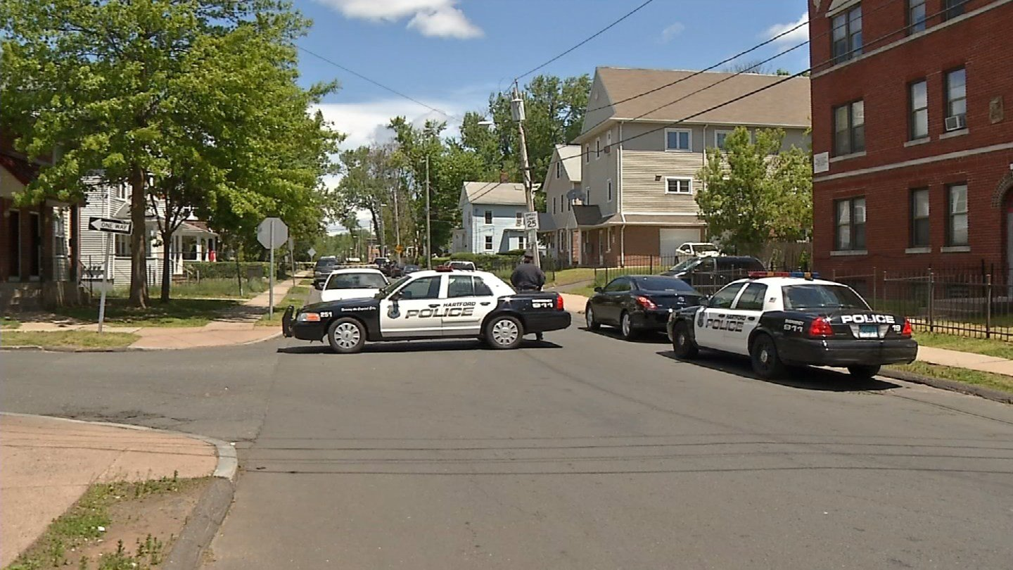 A man was shot in Hartford on Monday morning. (WFSB)