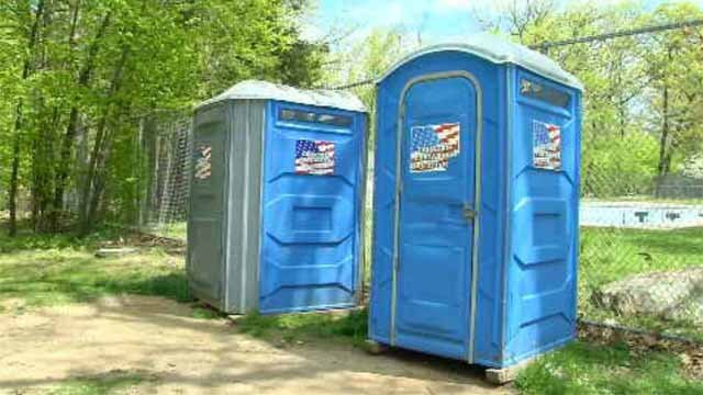 A parent reported a man performing a lewd act inside a port-o-potty at a park on Sunday. (WFSB)