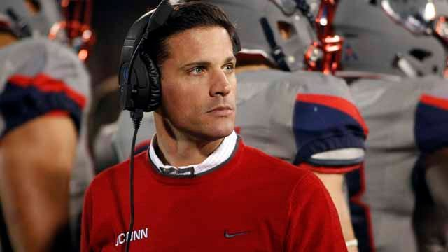 Bob Diaco was fired as the head football coach at University of Connecticut. (AP Images)