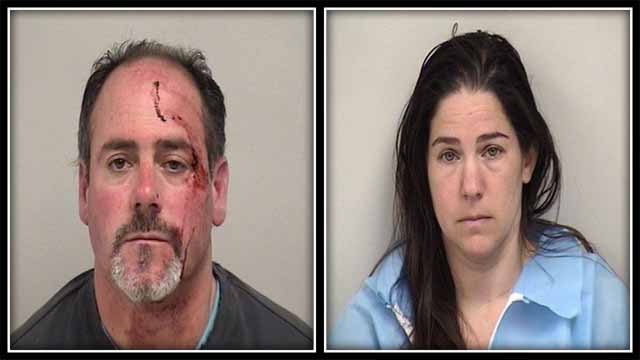 Kyle Owen and Carrie Owen were arrested on Monday (Westport Police)