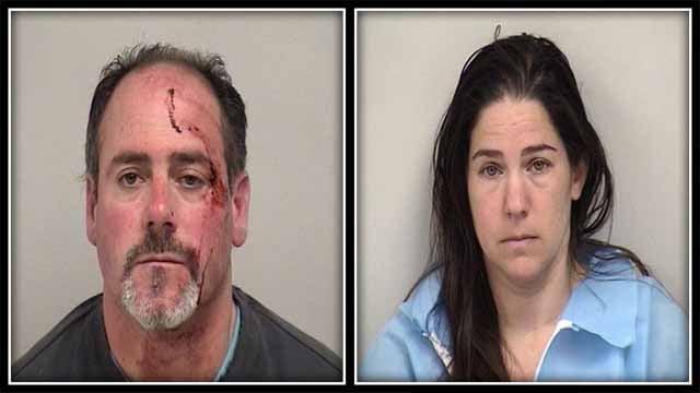 Kyle Owen and Carrie Owen were arrested on Monday (Westport Police)