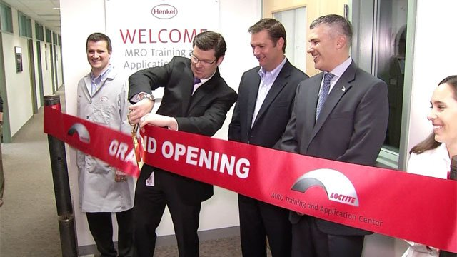 Henkel held a ribbon-cutting ceremony for its customer training center in Rocky Hill. (WFSB)