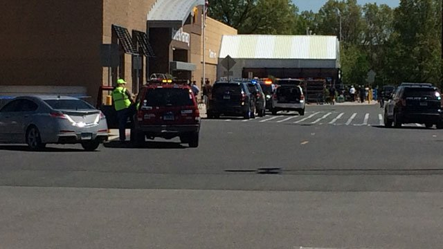 A suspect suspect slashed his throat at this Walmart in Manchester. (WFSB)
