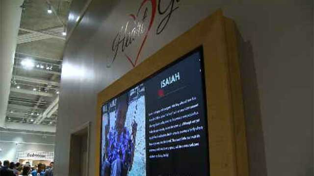 Jordan's Furniture launches 'gallery of children' to help raise awareness about adoption. (WFSB)