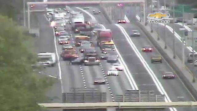 A multi-vehicle crash was reported on Interstate 91 south in Windsor. (DOT photo)