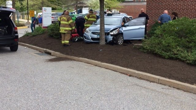A woman was hit by a motor vehicle near Windham Hospital on Thursday morning.