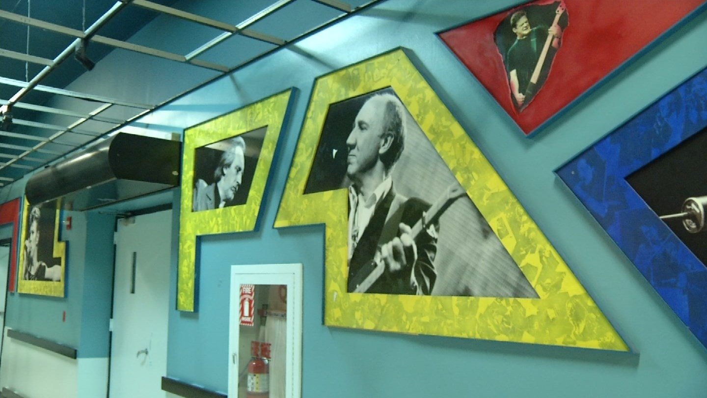 The Hall of Icons backstage at the Xfinity Theatre. (WFSB photo)