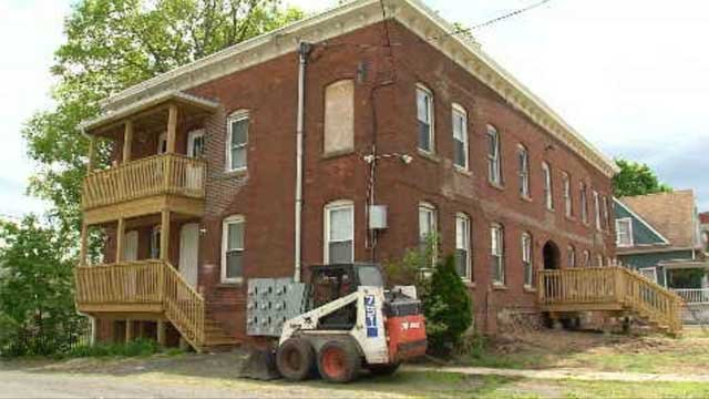 The Stearns Street building used to be run into the ground by its previous landlord. (WFSB)