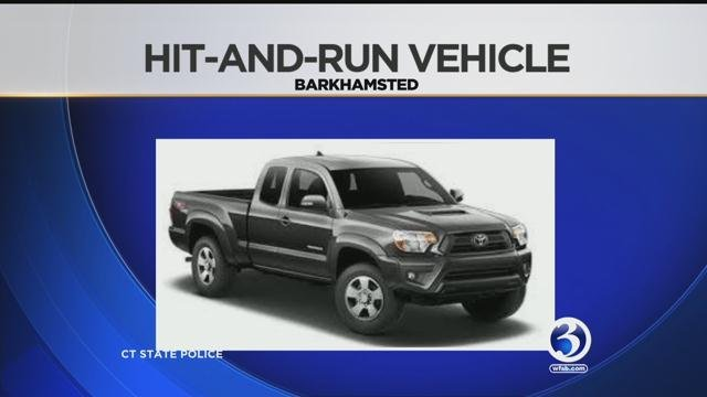 State Police are investigating a deadly hit-and-run crash involving magnetic gray Toyota Tacoma. (WFSB/CT State Police)