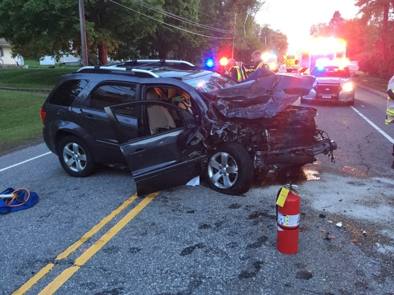 Two Injured after head on collision Sunday evening