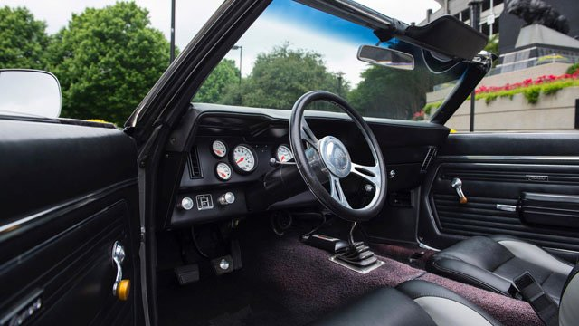 The interior of Greg Olsen's Camero. (Mohegan Sun photo)