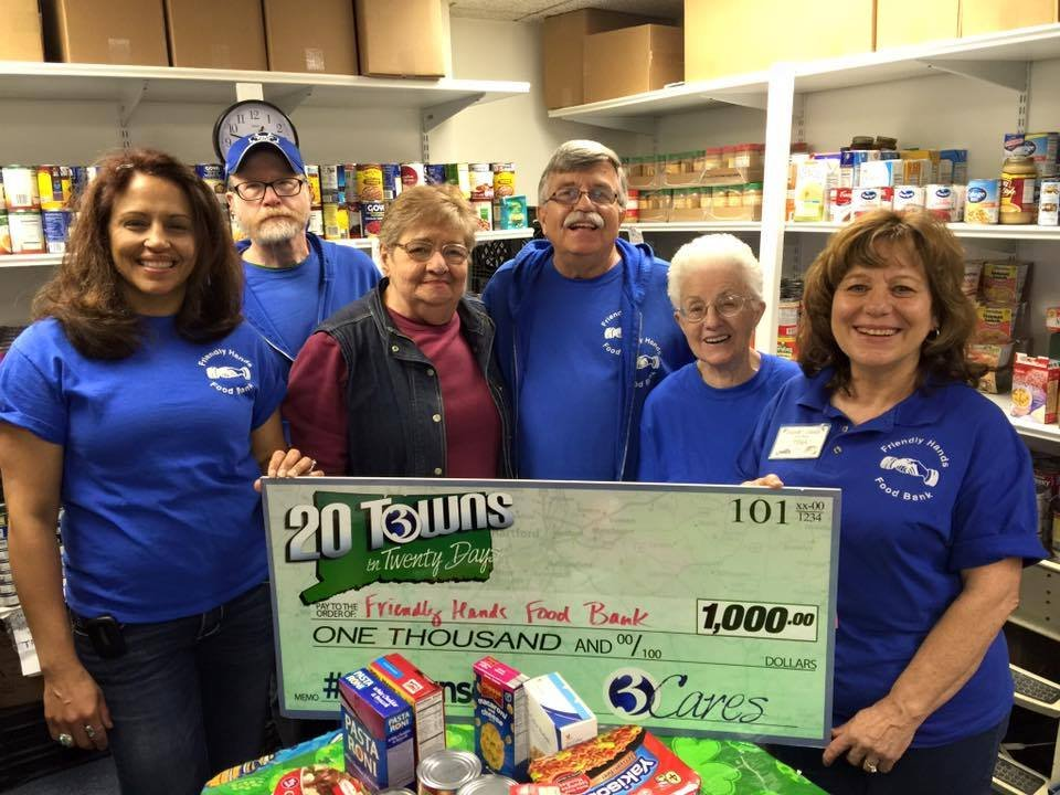 On Tuesday, Channel 3 made a donation to the Friendly Hands Food Bank. (WFSB)