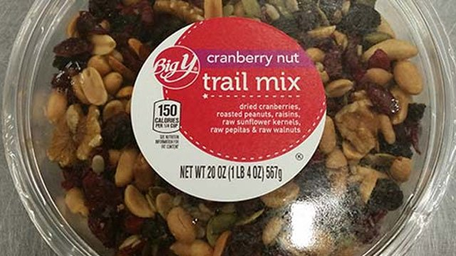 Big Y Cranberry Nut Trail is one of the items being recalled. (FDA)