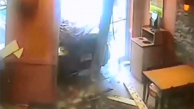The owners of a Subway Restaurant said a woman crashed through the front of their business on Tuesday. (YouTube photo)