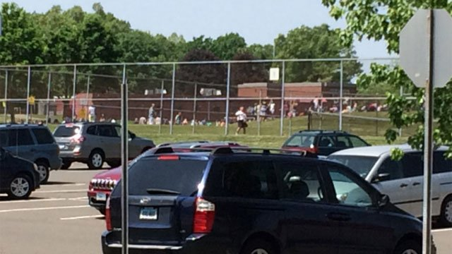 Students and staff were evacuated from Timothy Edwards Middle School. (WFSB)