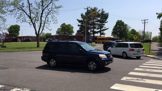 Authorities are investigating a bomb threat at school in South Windsor. (WFSB)