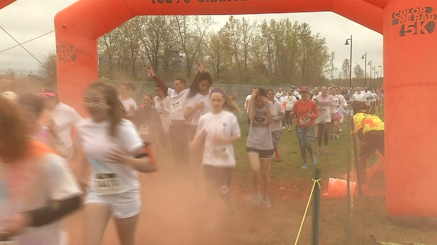 The Color Me Rad 5k in East Hartford. (WFSB photo)