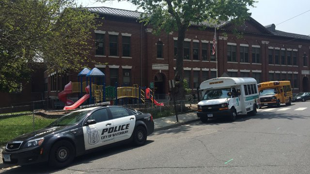 Police were at Diggs Elementary School after bomb threat. (WFSB)