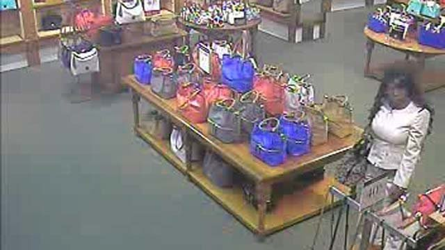 Women stole more than $1,000 worth of purses at Clinton Crossing on Wednesday. (Clinton Police)