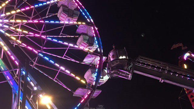 Firefighters rescued stranded people on a Ferris Wheel in Stratford Wednesday night. (Stratford Professional Firefighters IAFF 998 photo)