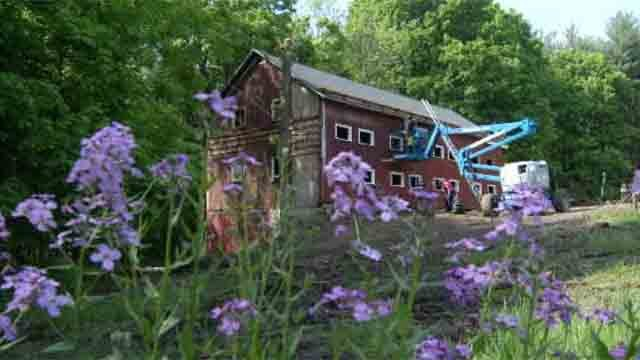 The family is currently renovating a historic Newtown barn with the help of the organization Rescue Rebuild. (WFSB)