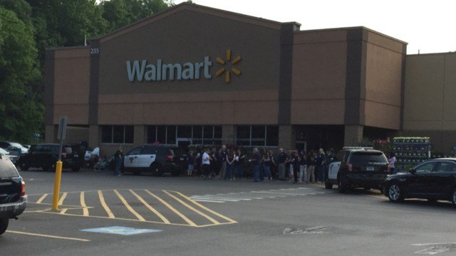 The Walmart on Queen Street in Southington was evacuated. (WFSB photo)