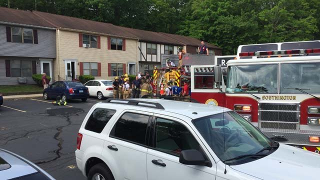 One person was hurt in a Southington apartment fire. (WFSB photo)