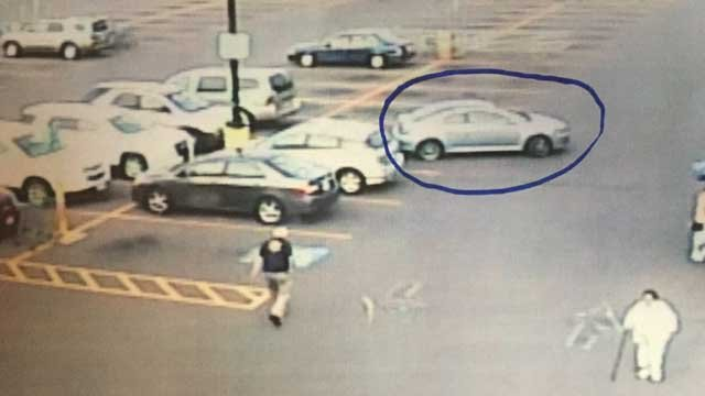 The suspect's vehicle. (Southington police photo)